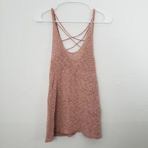 AEO Crochet Loose Wear Tank Top Blouse